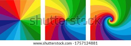 Gökkuşağı sırf şerit mavi kumaş renk Stok fotoğraf © jsnover