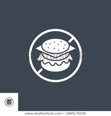 Nie fast food wektora ikona odizolowany biały Zdjęcia stock © smoki