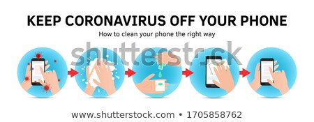 Clean your phone advice - flat design style illustration Stock photo © Decorwithme