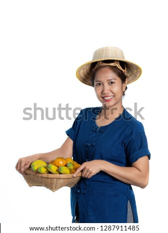 Food vendor with fresh vegetables on white background Stock photo © bluering