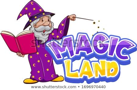 Fuente diseno palabra magia tierra varita mágica Foto stock © bluering