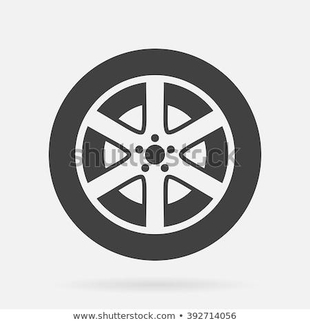 Autógumi vektor ikon illusztráció design sablon autó Stock fotó © Ggs
