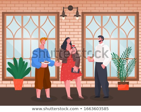 Home Reception, People Drinking Alcoholic Beverage Stock photo © robuart