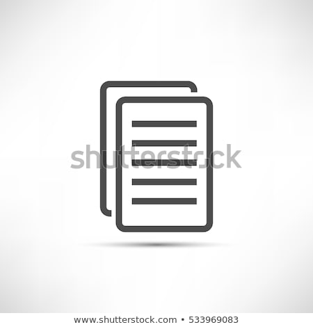 printed sheet in computer icon vector outline illustration Stock photo © pikepicture