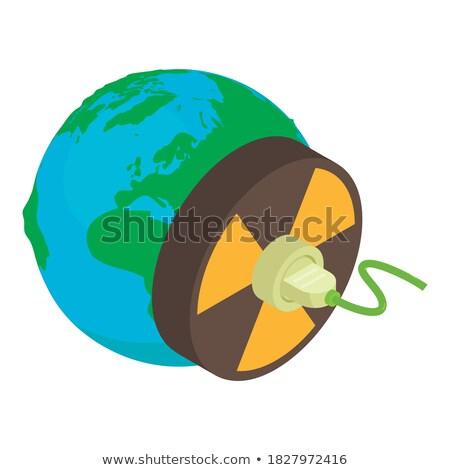 Radiação símbolo planeta isométrica ícone vetor Foto stock © pikepicture