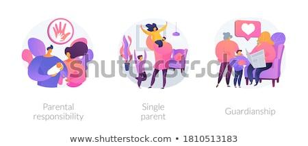 Parental responsibility abstract concept vector illustration. Stock photo © RAStudio