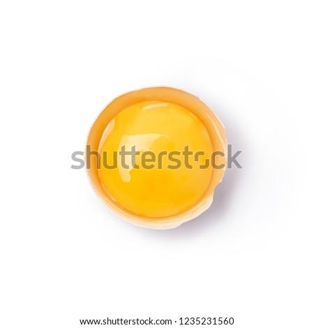 Uovo tuorlo greggio padella sfondo Foto d'archivio © Mcklog