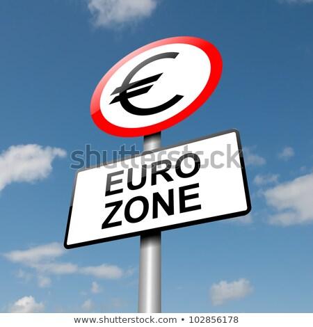 Warning Sign Europe Debt Crisis Stock photo © hlehnerer