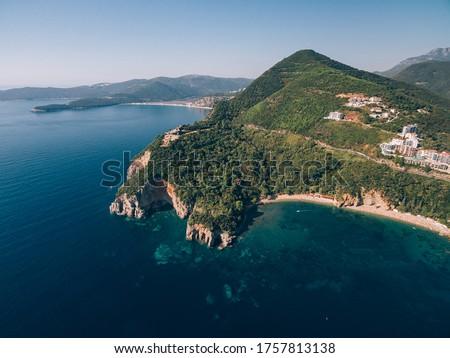 モンテネグロ 海岸 水 森林 風景 海 ストックフォト © joyr