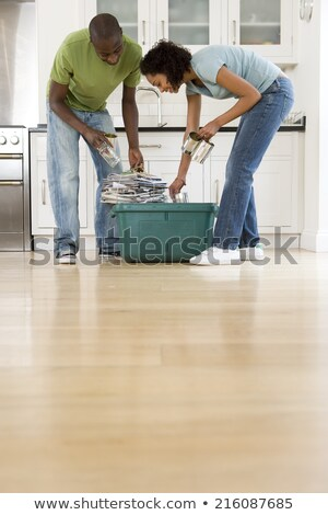 Couple sorting the recycling Stock photo © photography33