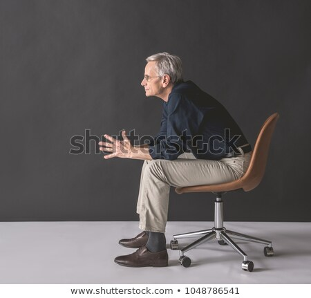 kıdemli · yürütme · tam · uzunlukta · görmek · gözlük · poz - stok fotoğraf © stockyimages