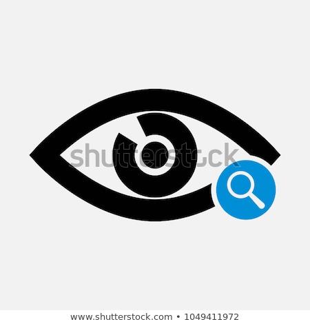 Oka inspekcja człowiek powiększające obiektyw Zdjęcia stock © smithore