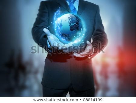 Zakelijke toekomst rood Stockfoto © solarseven