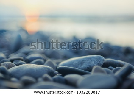 pebble stones by the sea stock photo © ozaiachin