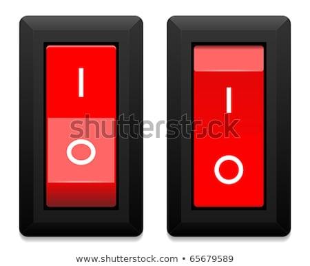 Pare botão cor negócio computador luz Foto stock © samsem