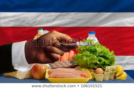 Buying Groceries With Credit Card In Costarica Stockfoto © vepar5