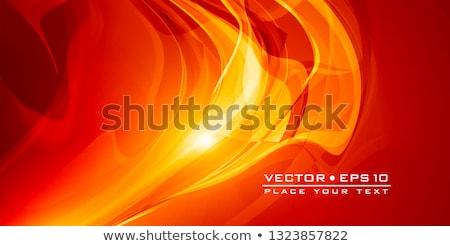 抽象的な · 黄色 · 曲線 · 行 · 在庫 · ベクトル - ストックフォト © gubh83
