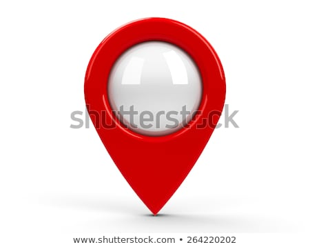 Stock photo: Map marker with icons-set three