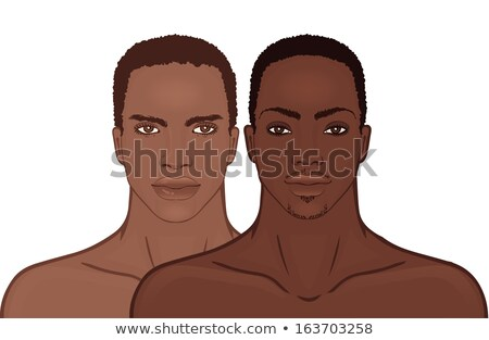 Front portraits of Healthy African decent man Stock photo © norwayblue