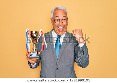 Very old trophy cup isolated Stock photo © michaklootwijk