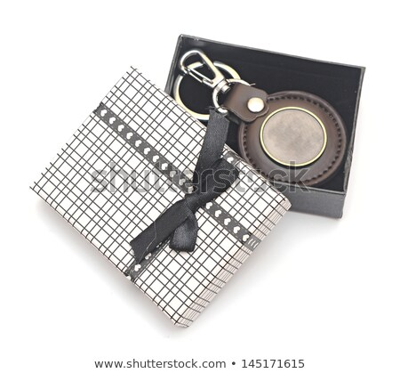 keychain with blank metal plate in box Stock photo © inxti