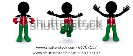emberek · zászló · Kenya · izolált · fehér · megbeszélés - stock fotó © kirill_m