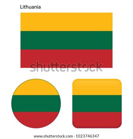 Lituânia bandeira botão preto teclado Foto stock © tashatuvango