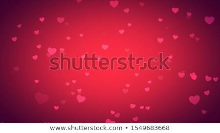 3D · etki · kalpler · vektör · parti · kalp - stok fotoğraf © burakowski