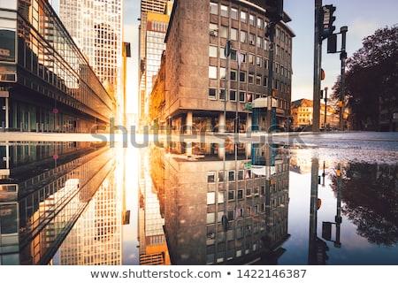 kantoor · wolkenkrabbers · zon · moderne · staal · glas - stockfoto © meinzahn