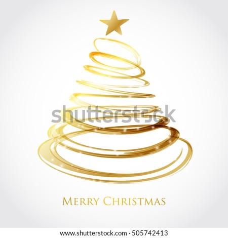 Gold Christmas Spiral Stock fotó © mcherevan