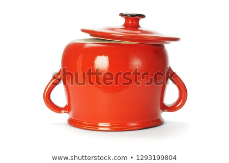 inverted red clay pot stock photo © dezign56