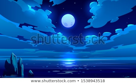 Stock photo: Twilight time landscape