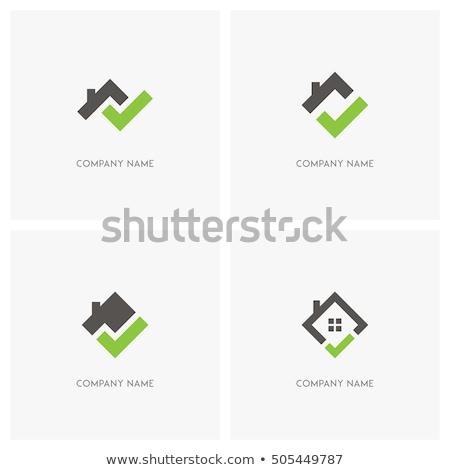 Casa design de logotipo logotipo companhia escritórios imóveis Foto stock © tracer
