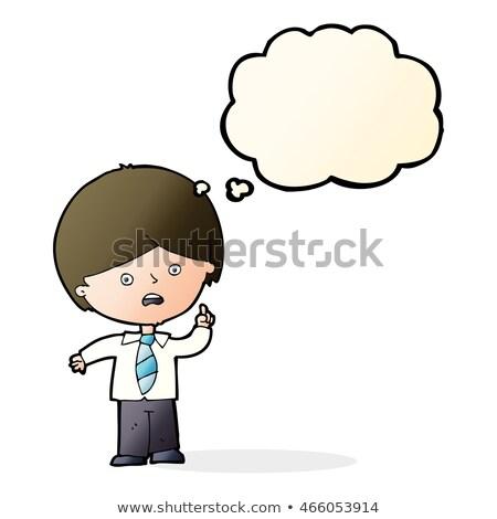漫画 男子生徒 手 思考バブル デザイン ストックフォト © lineartestpilot