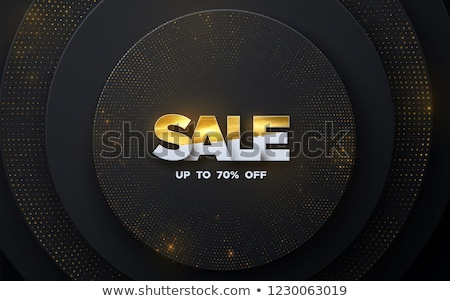 Winter Offer golden Vector Icon Design Stock photo © rizwanali3d