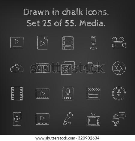 облаке · мелодия · эскиз · икона · веб · мобильных - Сток-фото © rastudio