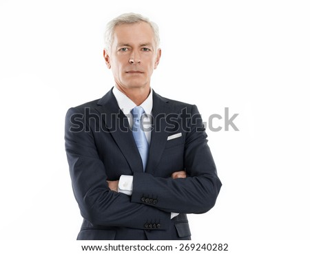 middle aged businessman against white background stock photo © ozgur