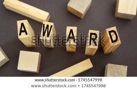 congrats concept isolated letterpress type stock photo © enterlinedesign