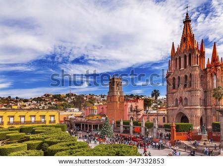 教会 メキシコ 町 広場 建物 旅行 ストックフォト © billperry