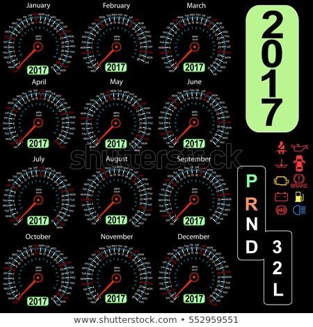 Calendar 2017 in speedometer car. Stock photo © m_pavlov