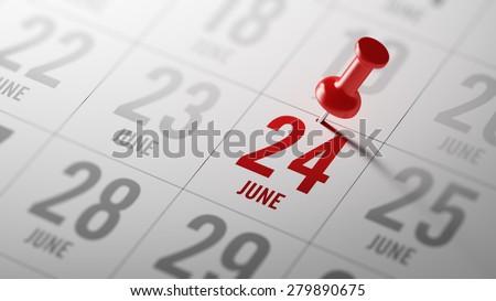 Stock photo: 24th June