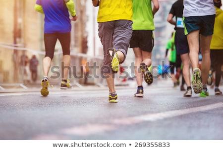 グループの人々  を実行して 外 道路 スポーツ カップル ストックフォト © smuki
