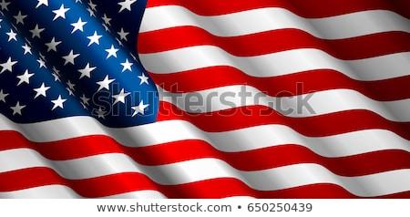 Foto stock: Bandeira · americana · vetor · patriótico · dia · fundo · azul