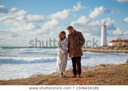 woman at a lighthouse stock photo © piedmontphoto