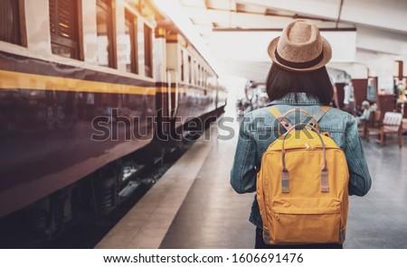 woman in train Stock photo © elwynn
