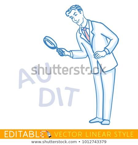 Responsabilità lente di ingrandimento doodle uomo carta Foto d'archivio © tashatuvango