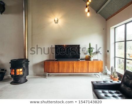 Szafka miłości szczęśliwy domu okno Zdjęcia stock © wavebreak_media