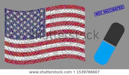USA hazafias tabletta amerikai zászló kapszula orvosi Stock fotó © popaukropa