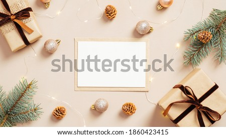Christmas composition with letters XMAS Stock photo © Melnyk