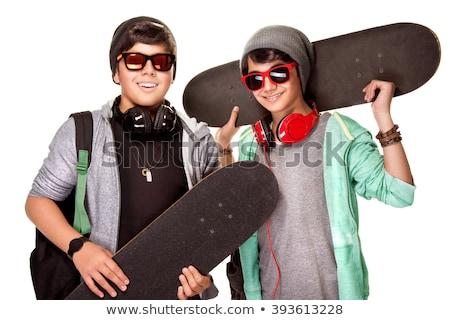 Teenage boy in fashionable clothes Stock photo © Traimak